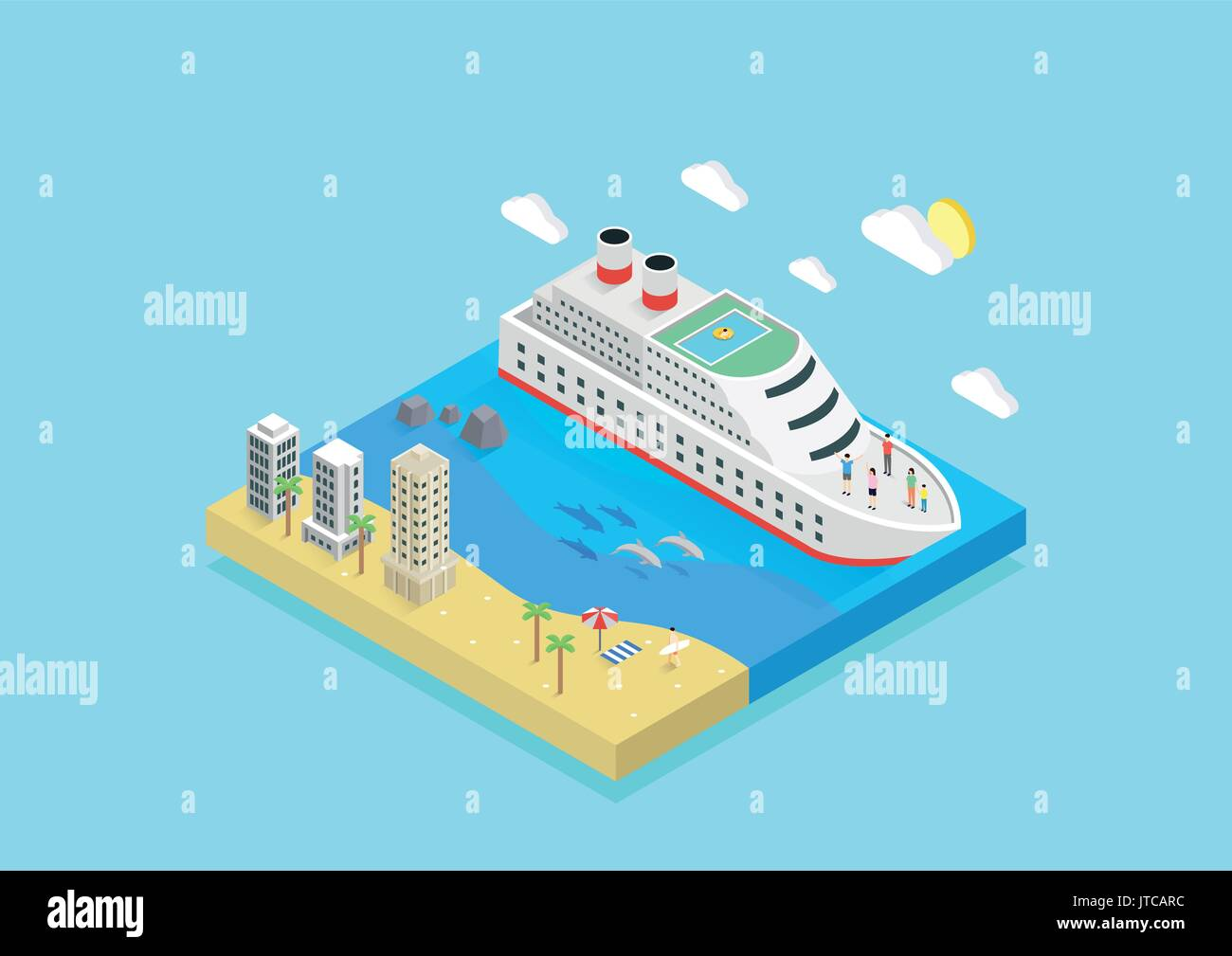 summer island - Stock Vector