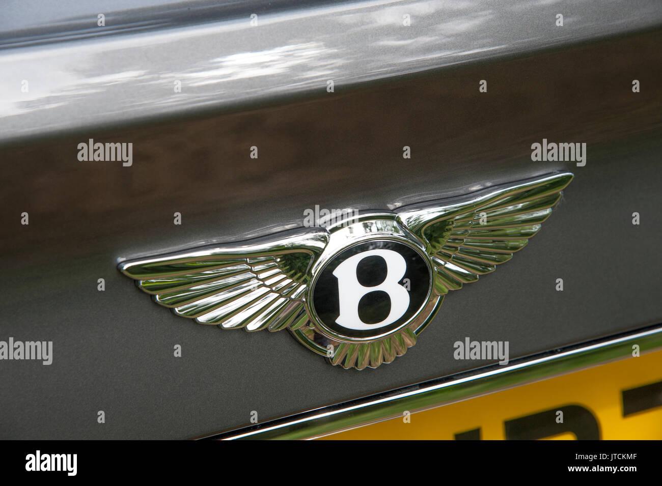 2017 Bentley Bentayga badge - Stock Image