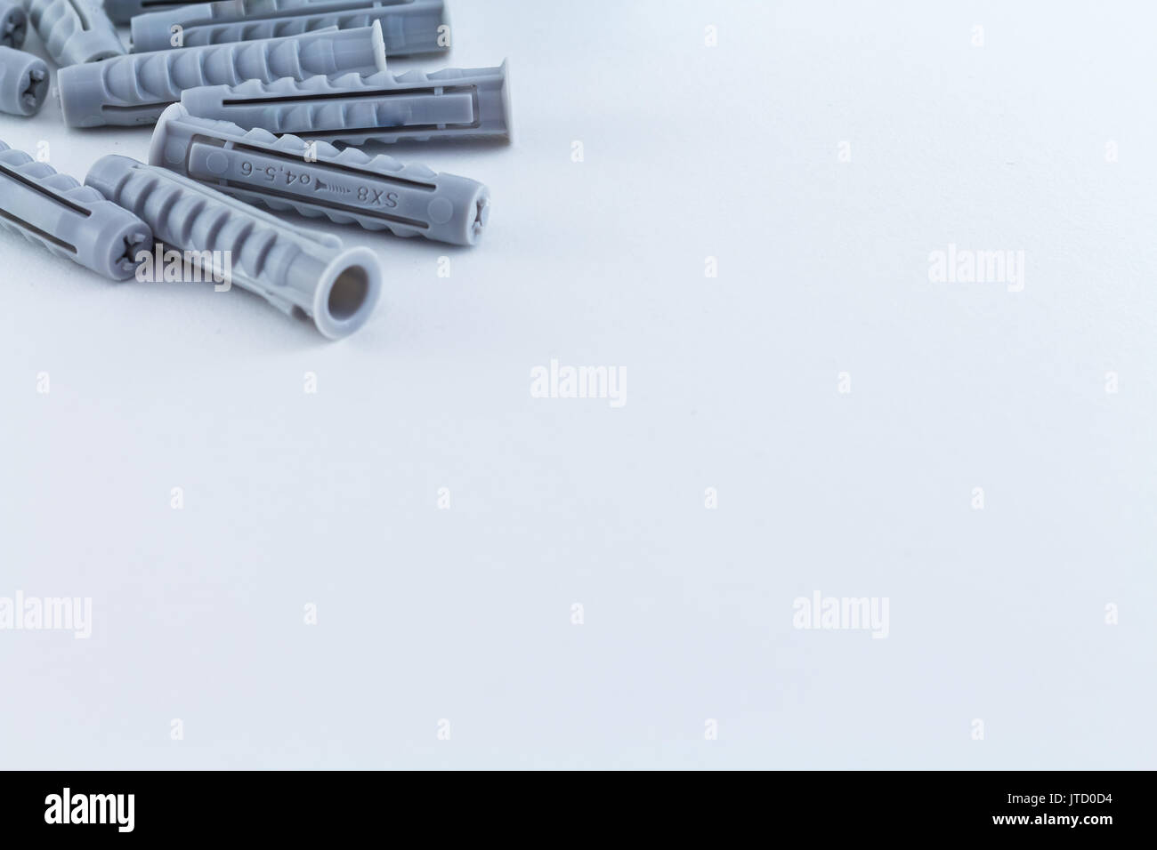 Dowel on white background - Stock Image