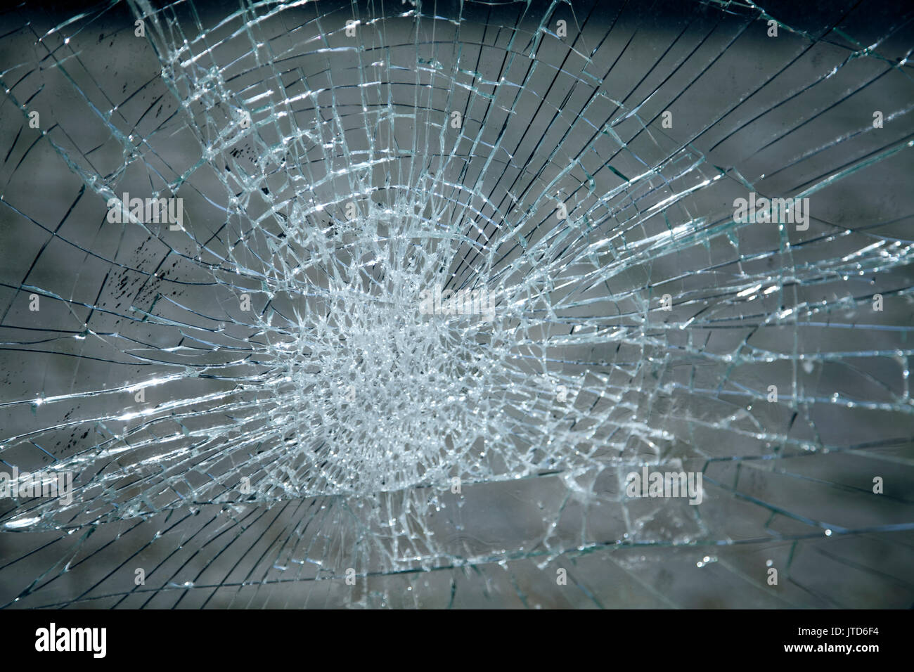 Cracked Glass - Stock Image