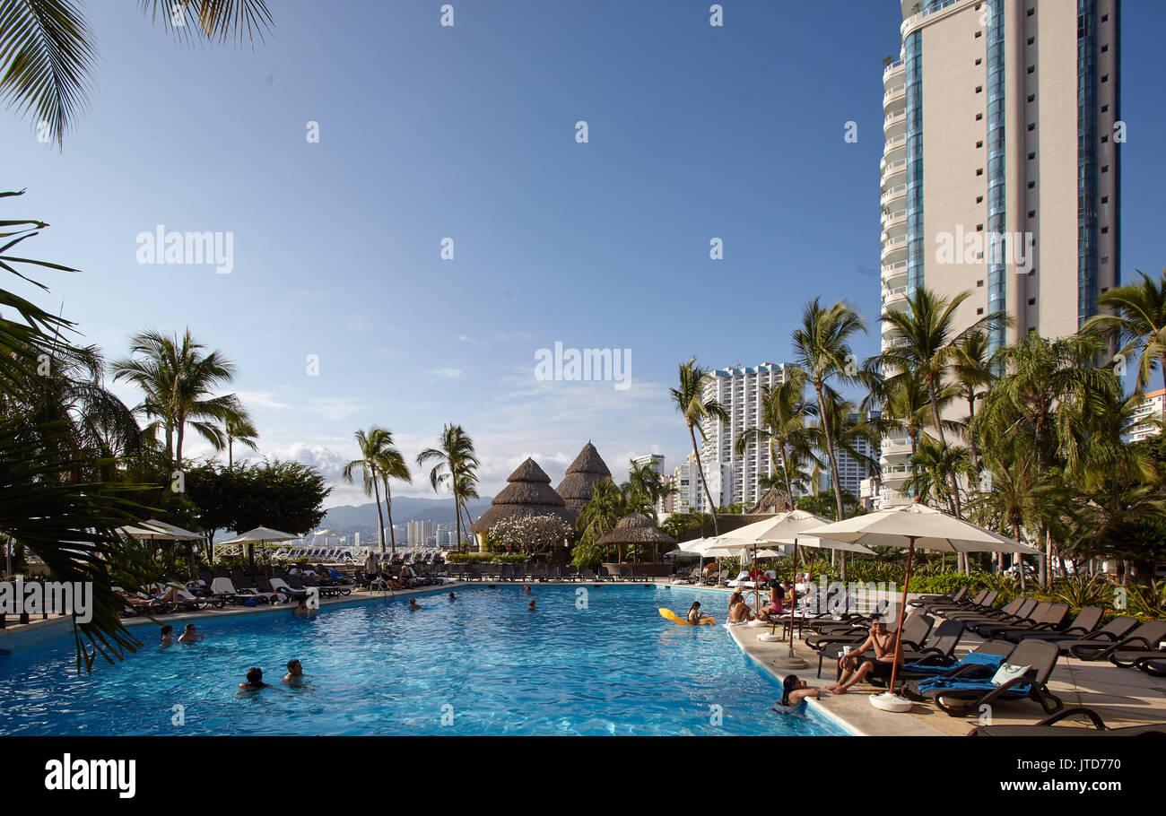 America; Mexico; Guerrero; Acapulco city; Zona Dorada Stock Photo