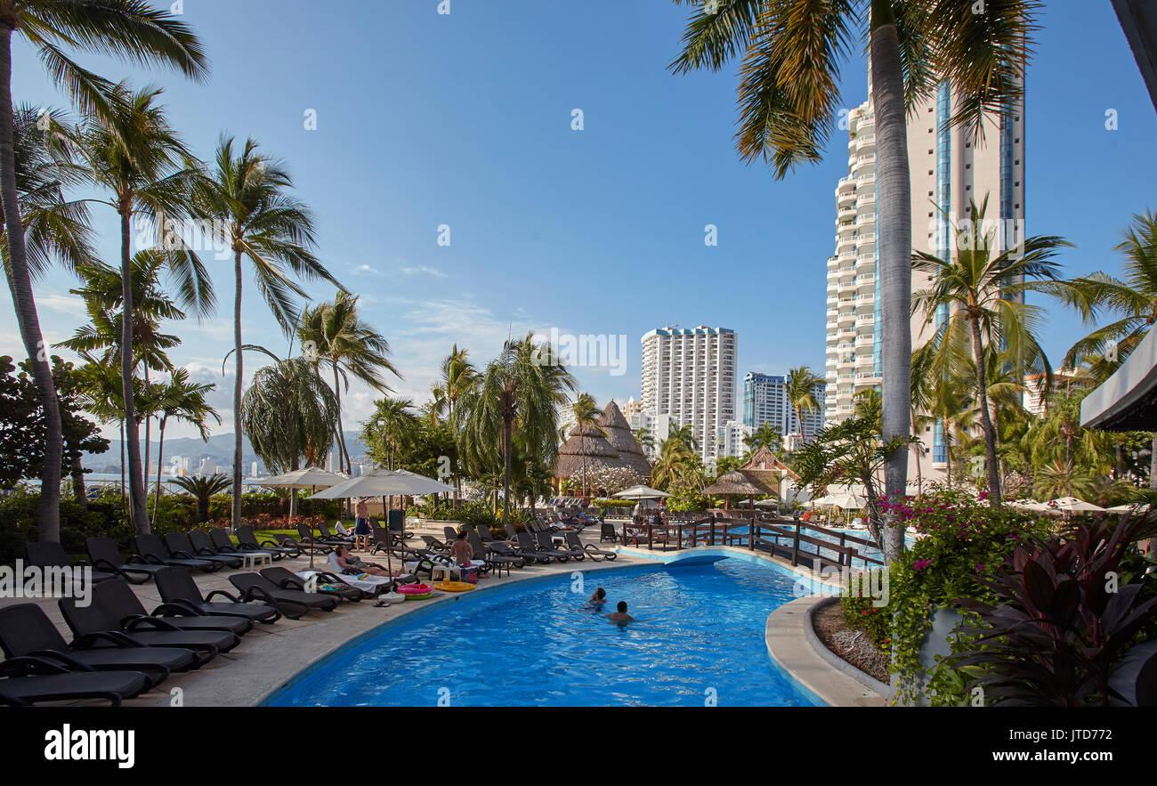 America; Mexico; Guerrero; Acapulco city; Zona Dorada - Stock Image