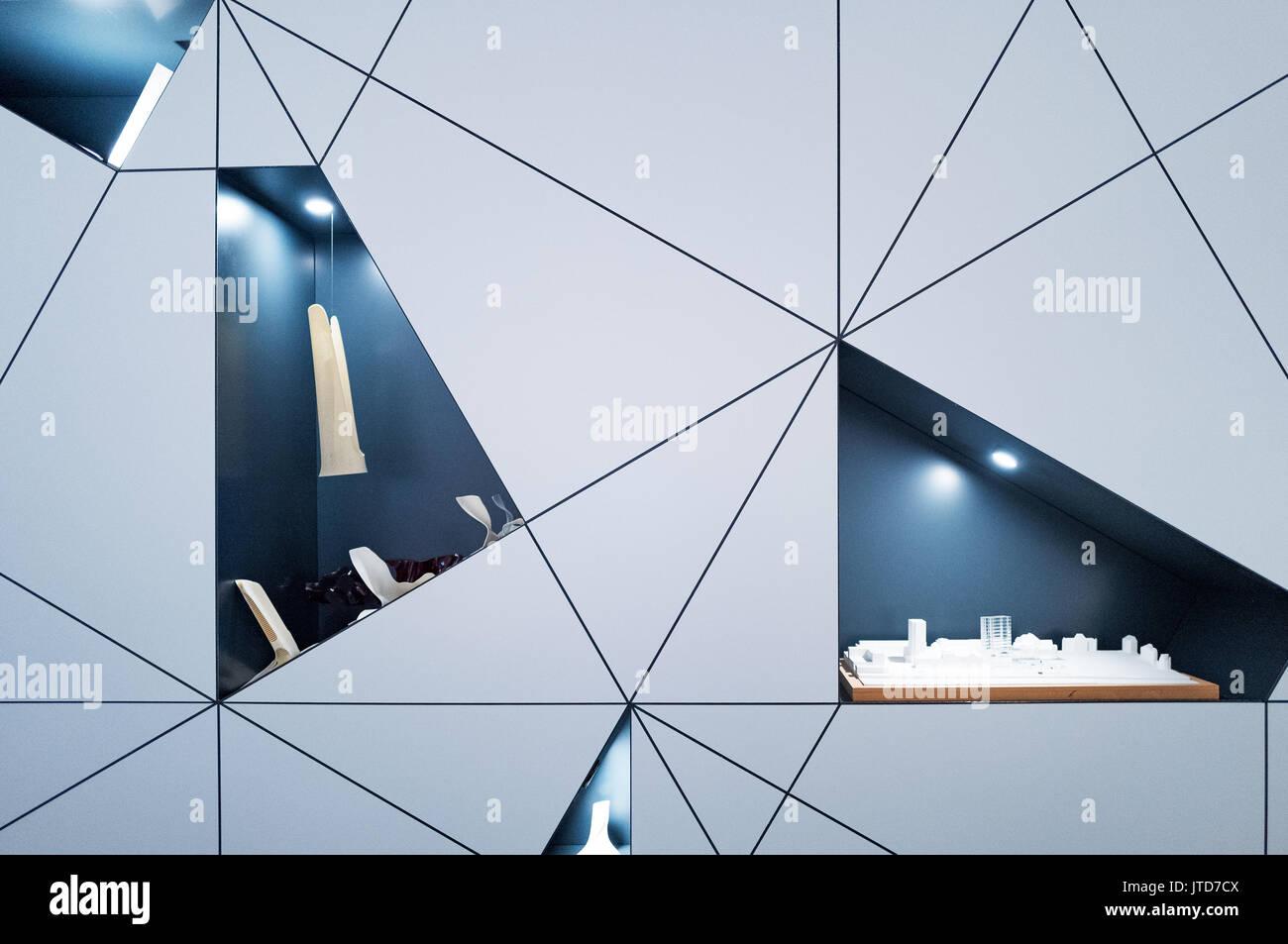 Copenhagen, Denmark, Detail view of the Danish Architecture Centre - Stock Image