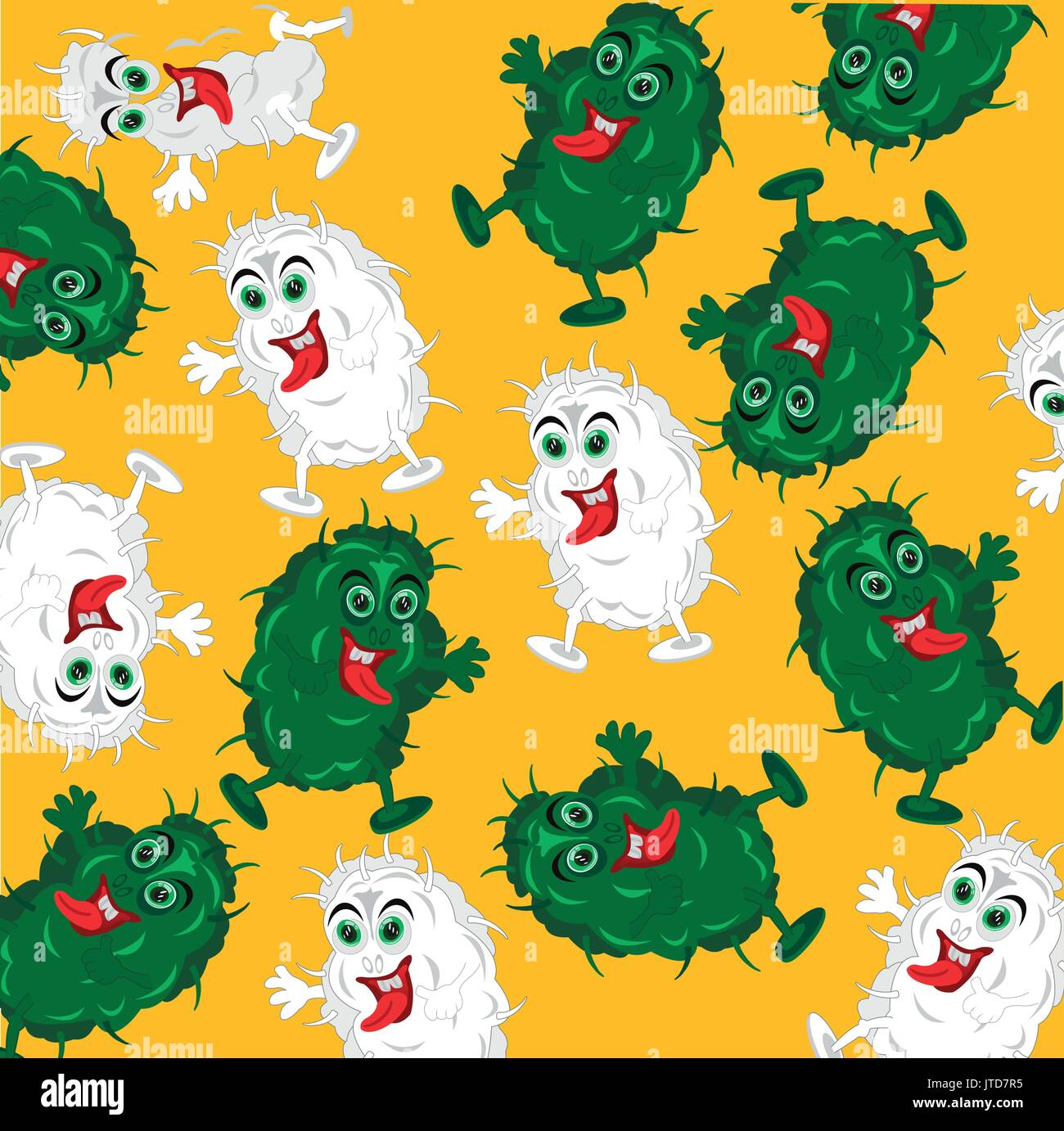 Background from bacteria - Stock Image
