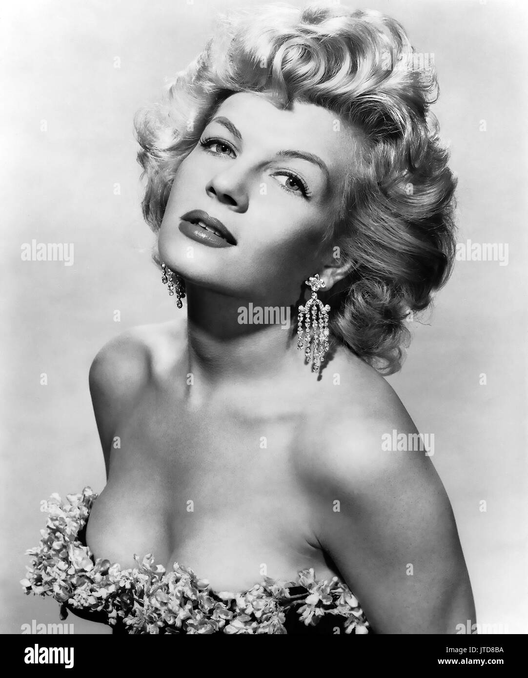 CORINNE CALVET (1925-2001) French film actress about 1956 - Stock Image
