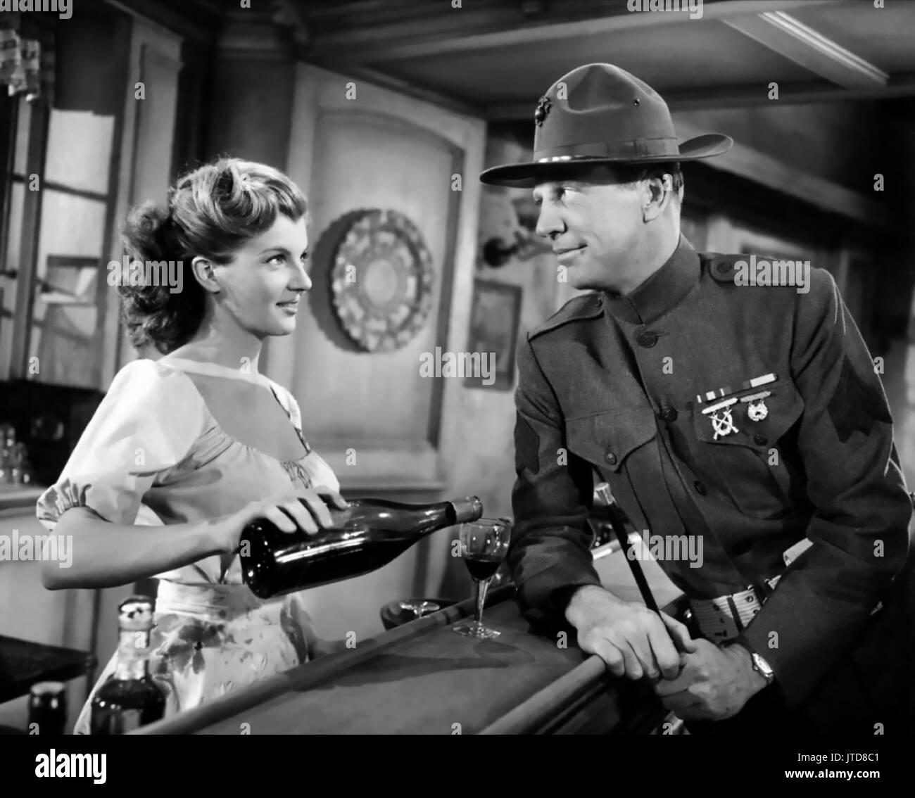 WHAT PRICE GLORY  1952 20th Century Fox film with Corinne Calvet and Dan Dailey - Stock Image