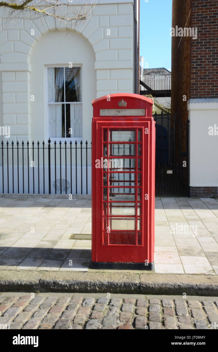 Public call box, red telephone box - Stock Image