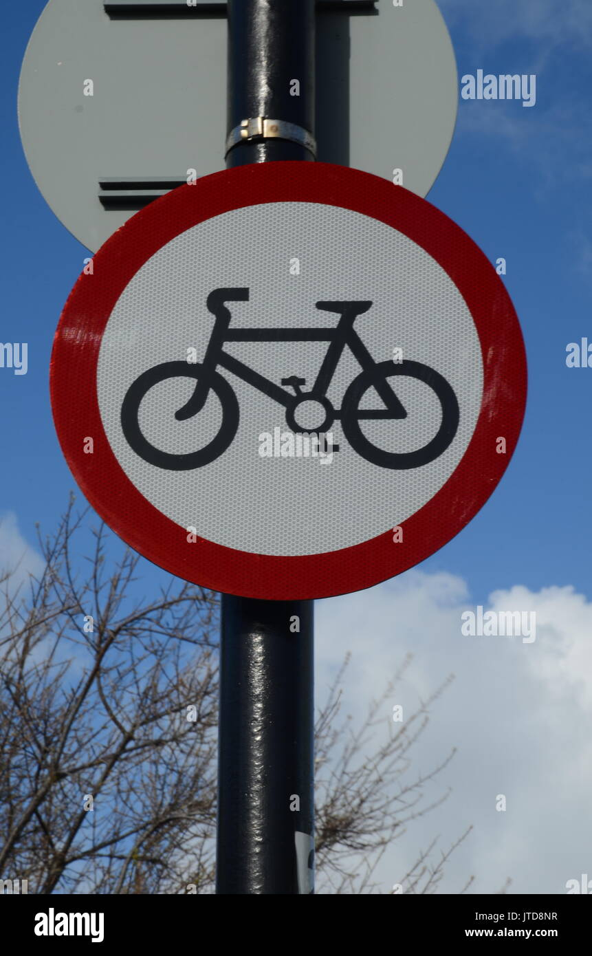 no cycling sign - Stock Image
