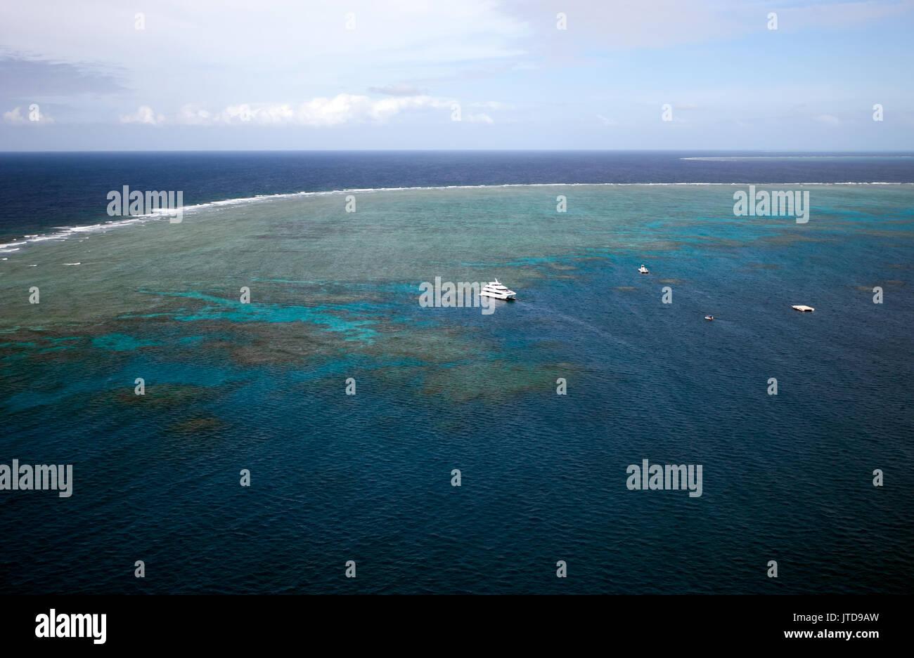 Aerial view of Hastings Reef, Cairns, Queensland, Australia - Stock Image