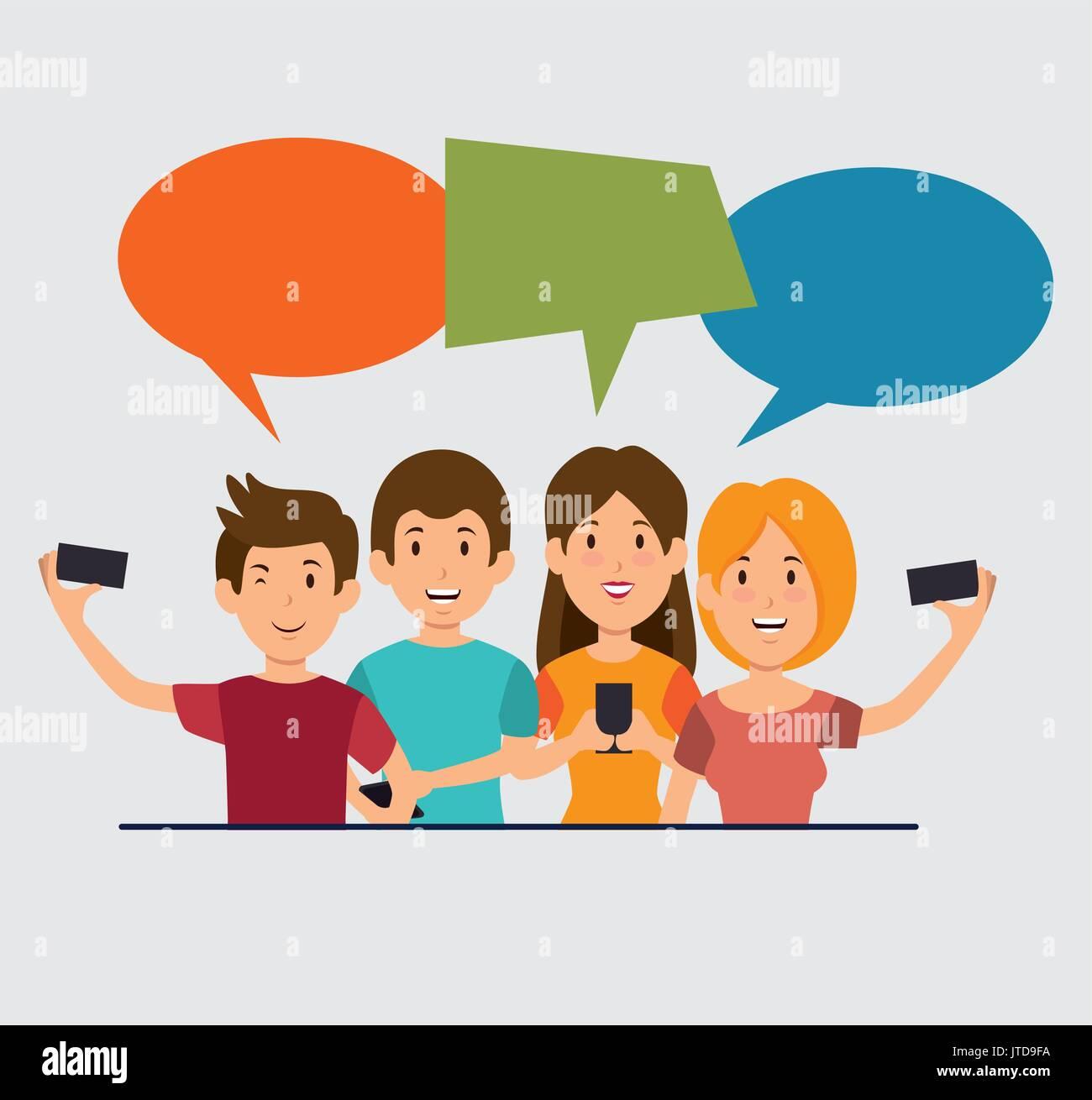 smartphone addiction concept modern lifestyle  - Stock Image