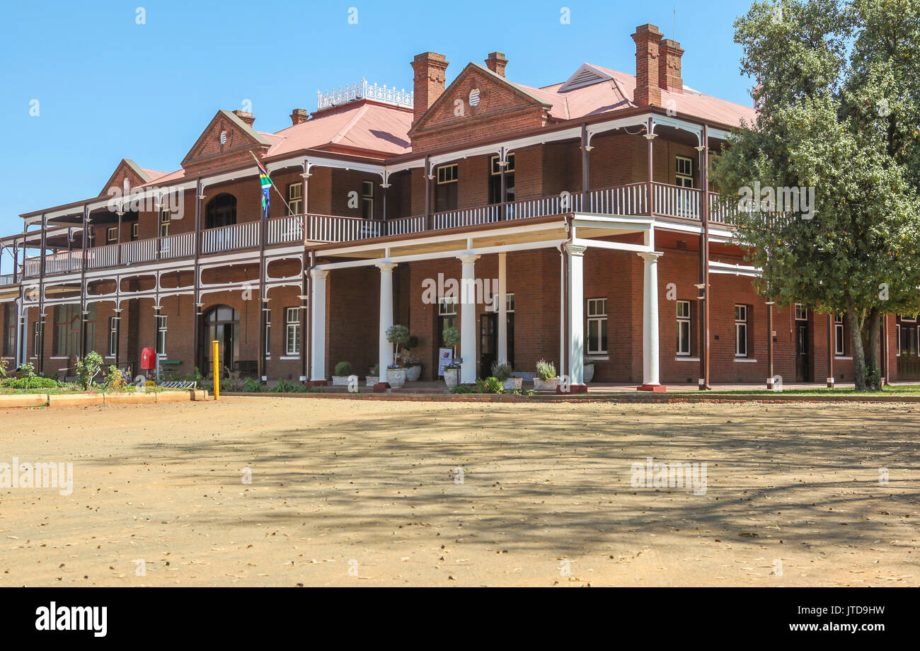The erstwhile Kimberley Sanatorium, in which Cecil John Rhodes lived during the Siege of Kimberley - now multi-disciplinary McGregor museum - Stock Image
