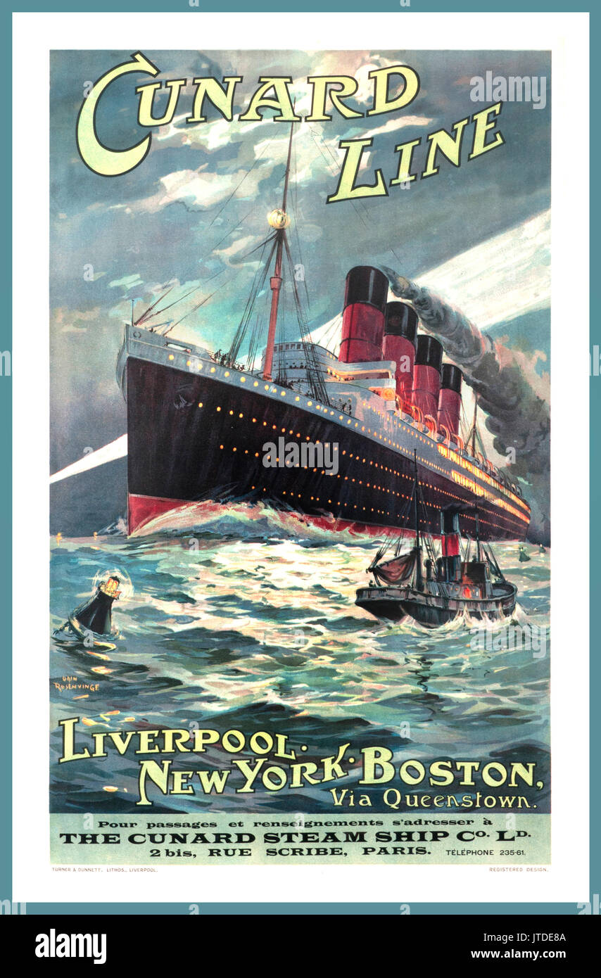 Maritime Cunard Line Large Posters