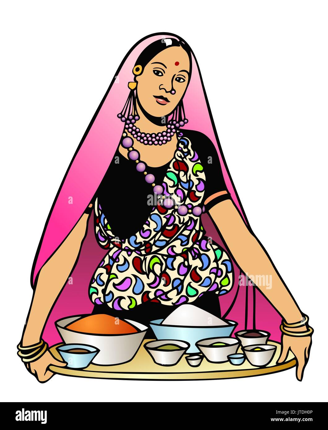 Beautiful Young Indian Woman Cooking High Resolution Stock Photography And Images Alamy