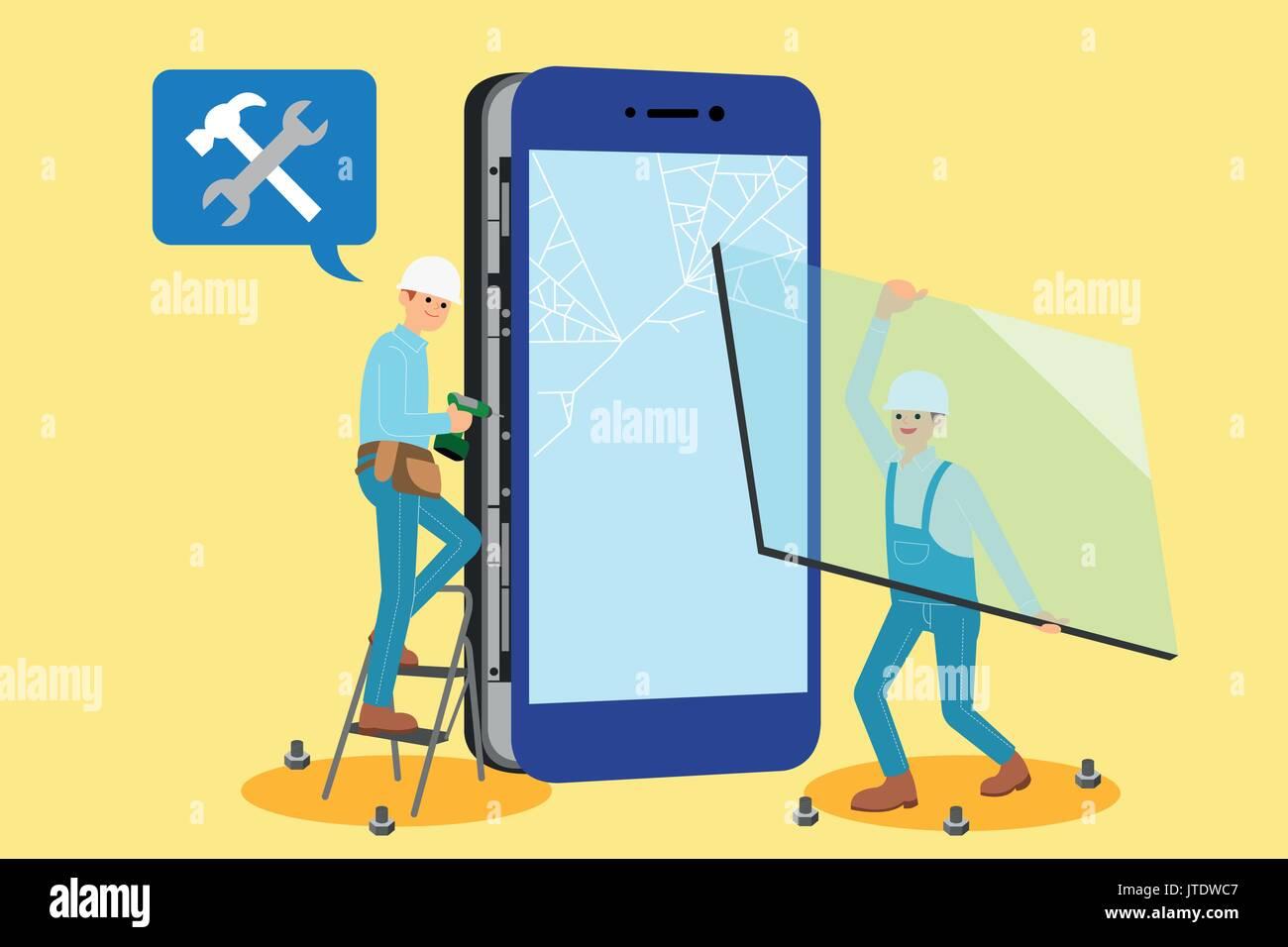 Mobile world - Stock Image