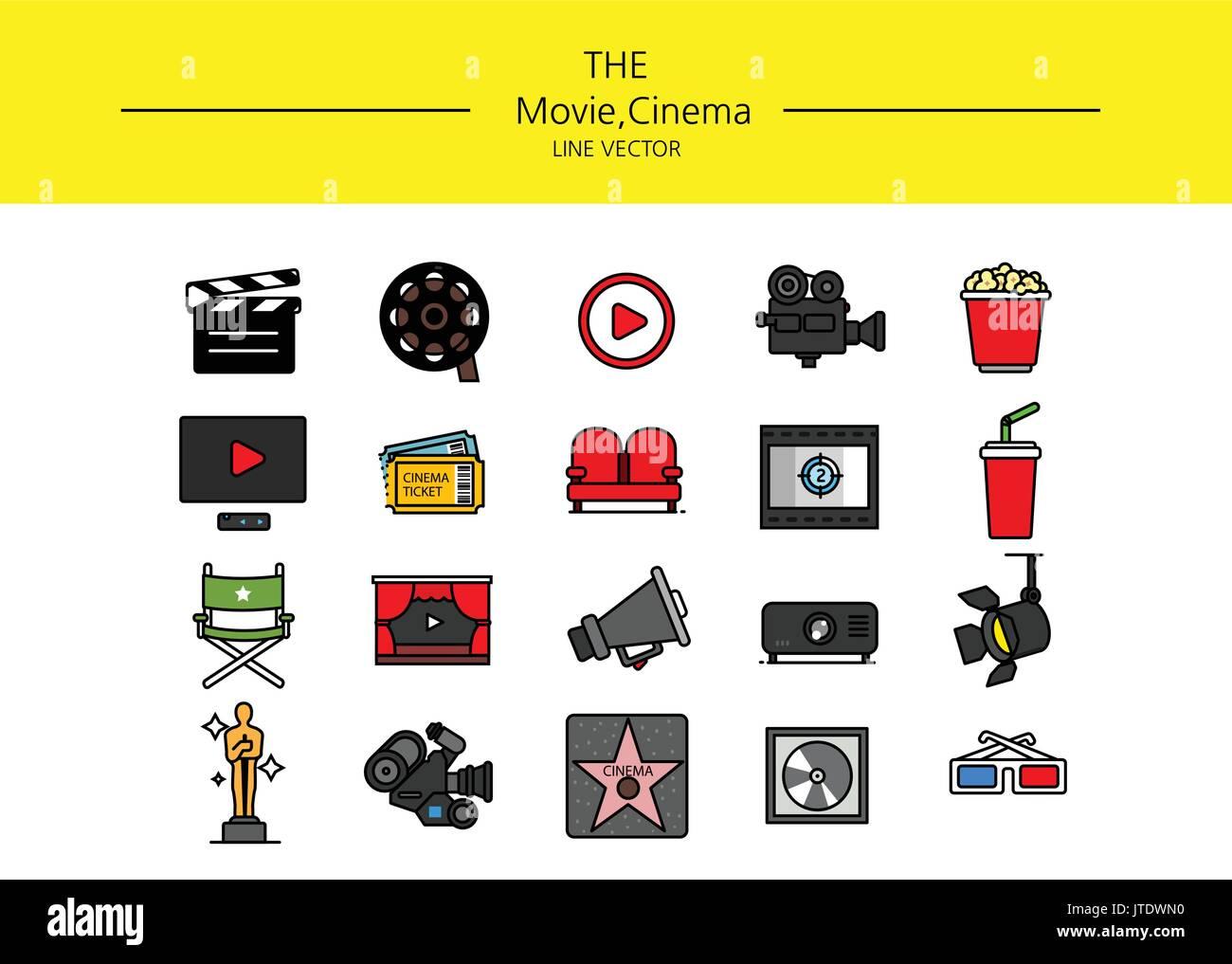 line icon set - Stock Image
