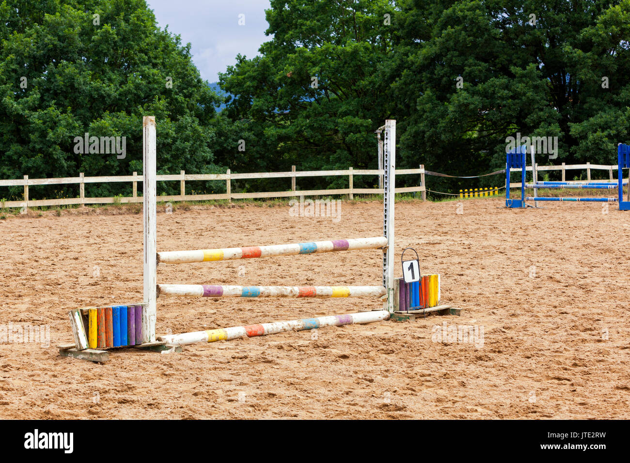 Barrier for horse at the race track - Stock Image