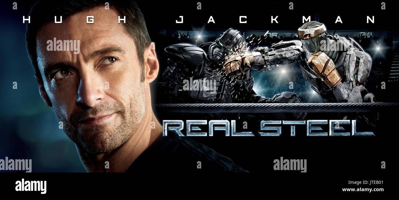 Hugh Jackman Poster Real Steel 2011 Stock Photo Alamy