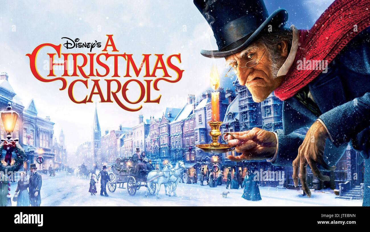 Ebenezer Scrooge Poster A Christmas Carol 2009 Stock Photo Alamy