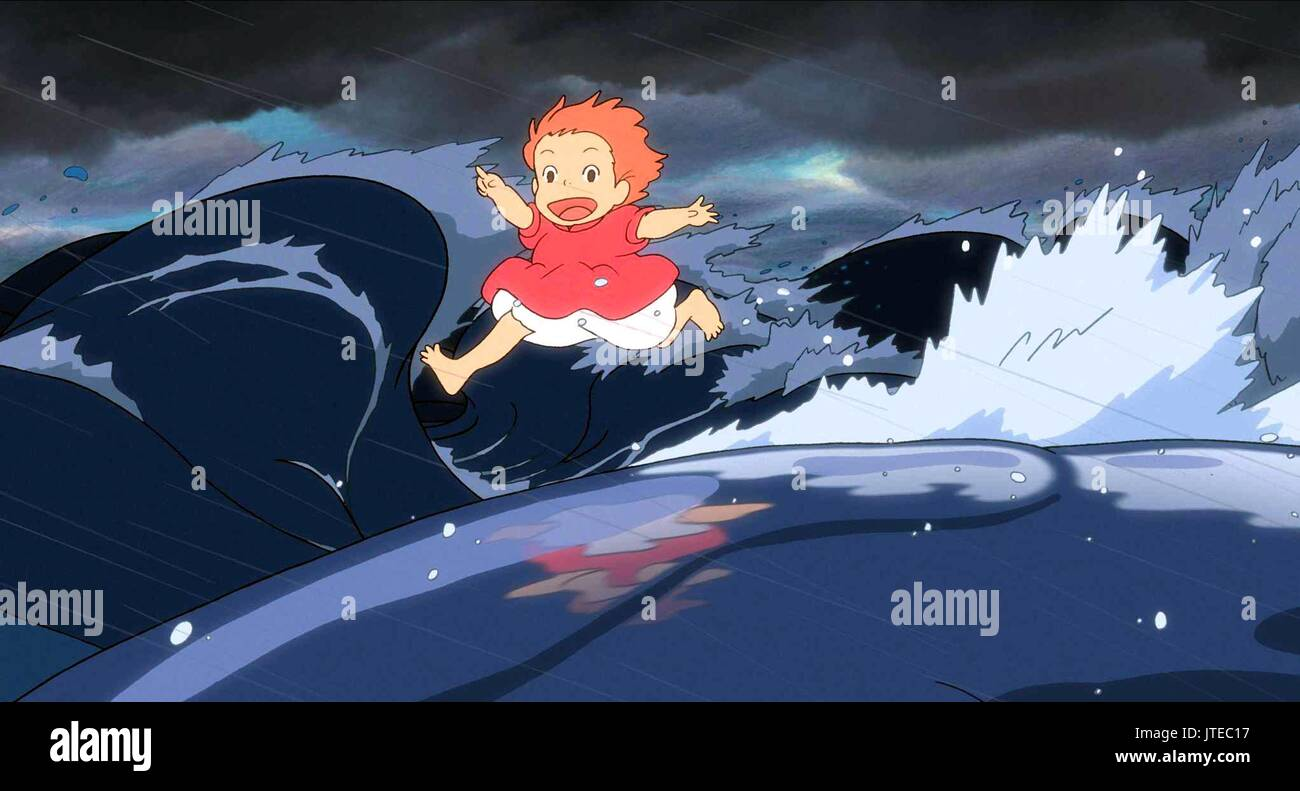Ponyo Ponyo On The Cliff Gake No Ue No Ponyo 2008 Stock Photo Alamy
