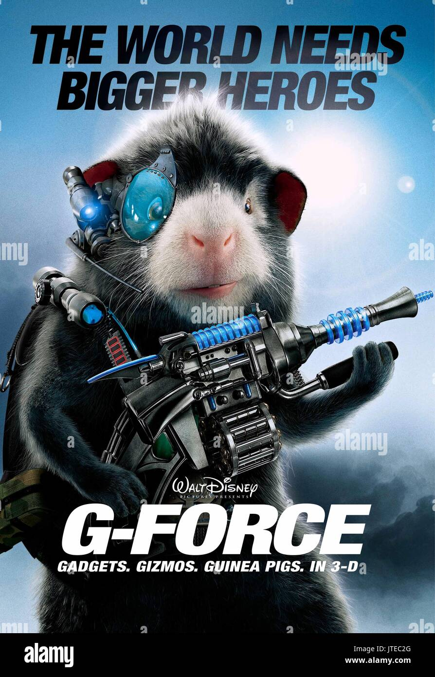 Agent Blaster Poster G Force 2009 Stock Photo Alamy