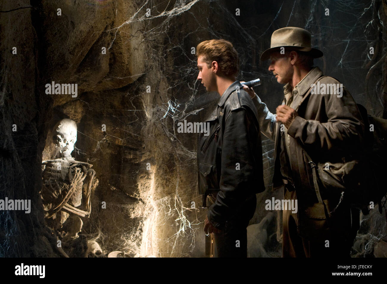 Shia Labeouf Harrison Ford Indiana Jones And The Kingdom Of The Stock Photo Alamy