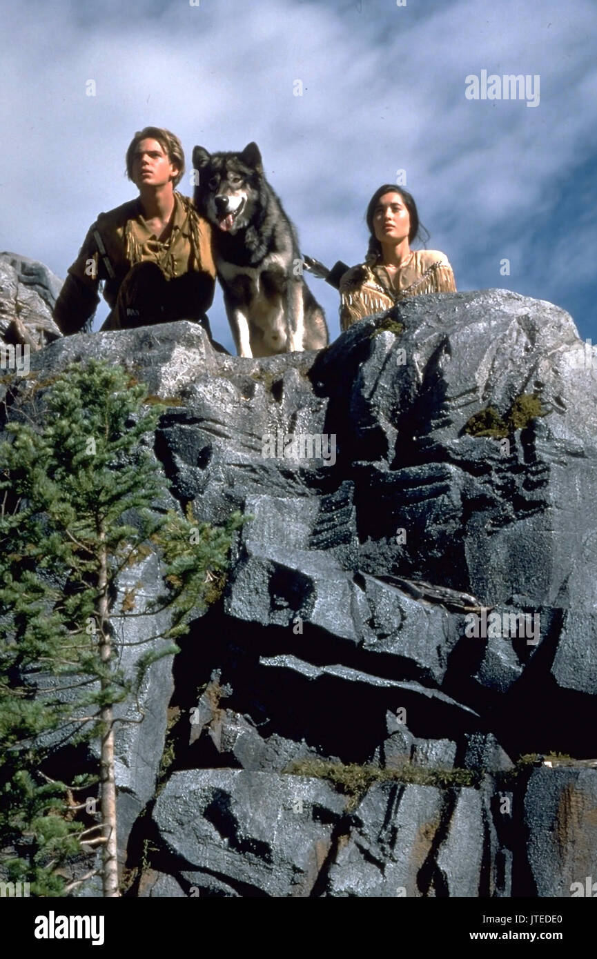 SCOTT BAIRSTOW, CHARMAINE CRAIG, WHITE FANG 2: MYTH OF THE WHITE WOLF, 1994 - Stock Image