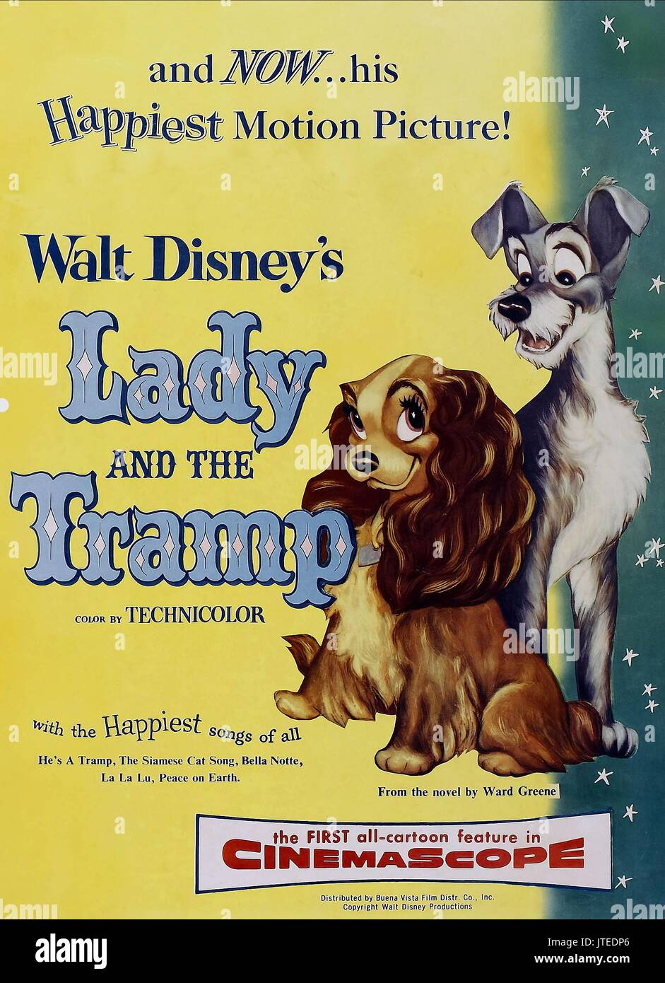 Lady Tramp Poster Lady And The Tramp 1955 Stock Photo Alamy