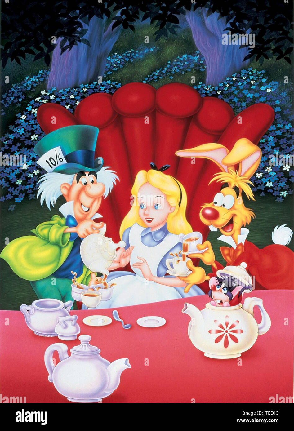 mad hatter alice amp march hare alice in wonderland 1951