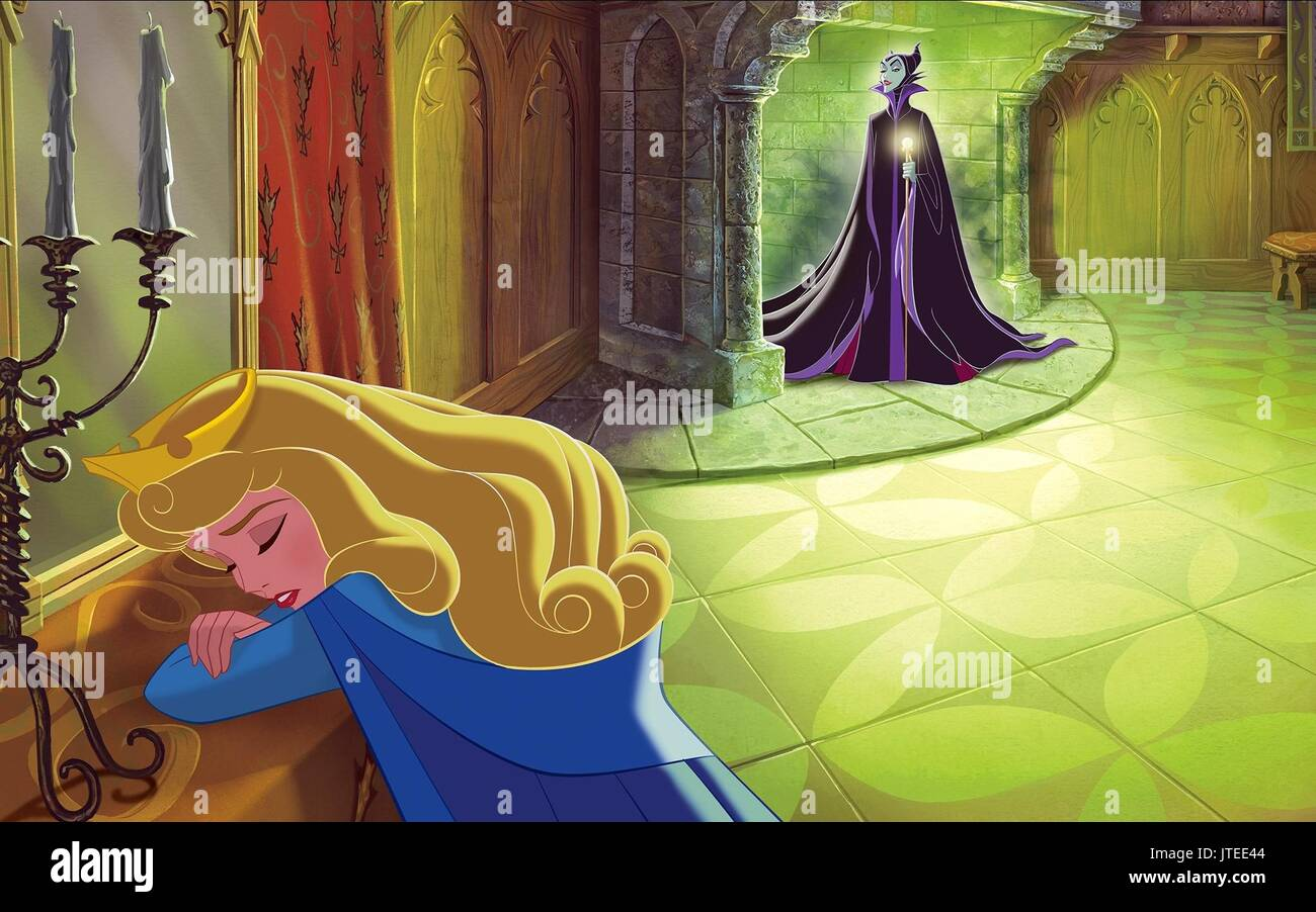 Princess Aurora Maleficent Sleeping Beauty 1959 Stock