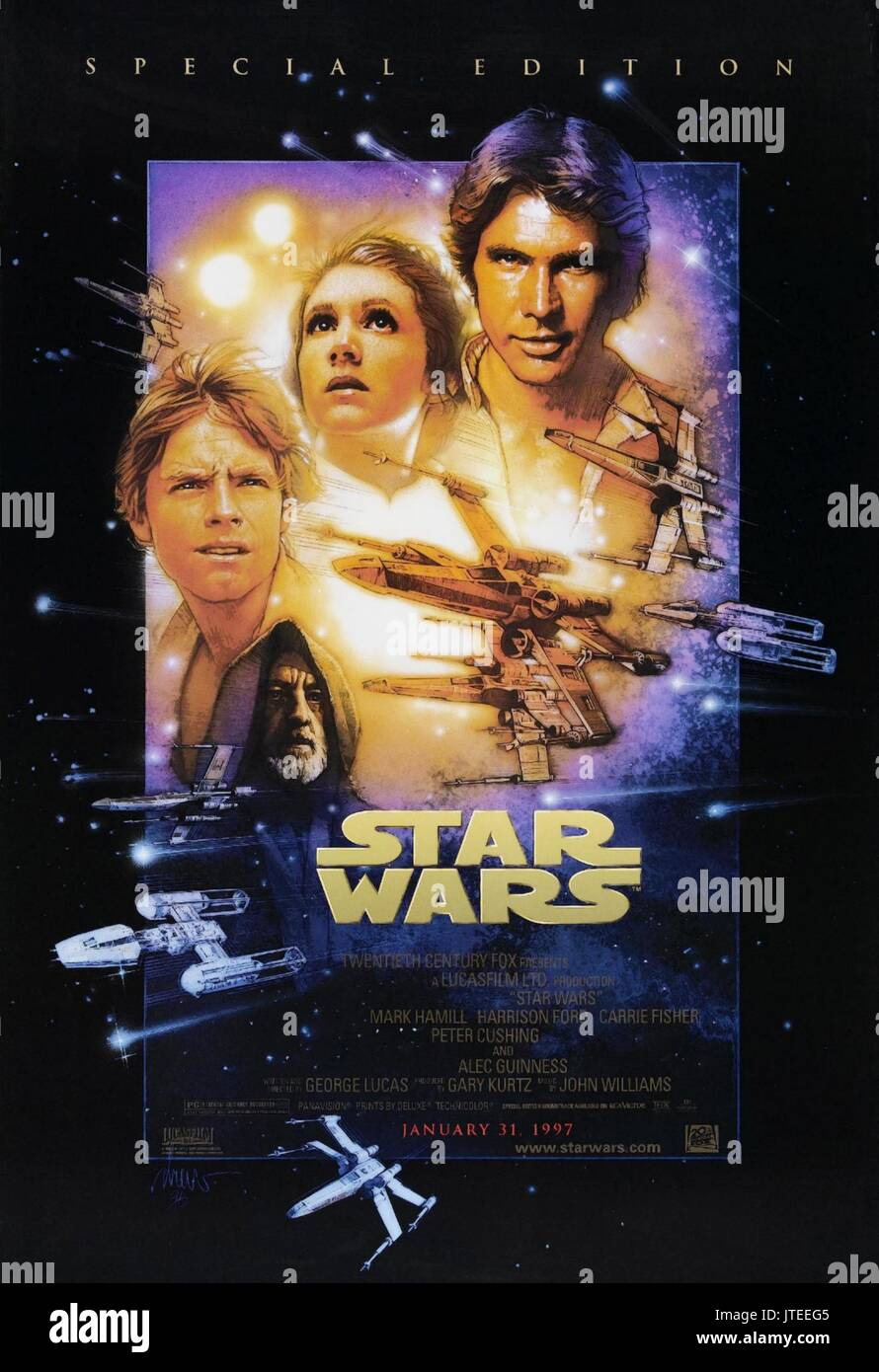 Movie Poster Star Wars Star Wars Episode Iv A New Hope 1977 Stock Photo Alamy