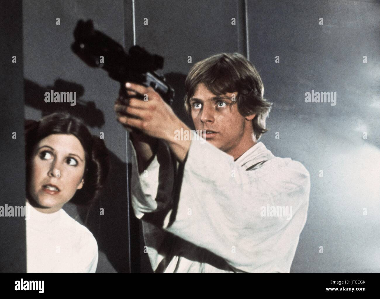 Carrie Fisher Mark Hamill Star Wars Episode Iv A New Hope 1977 Stock Photo Alamy