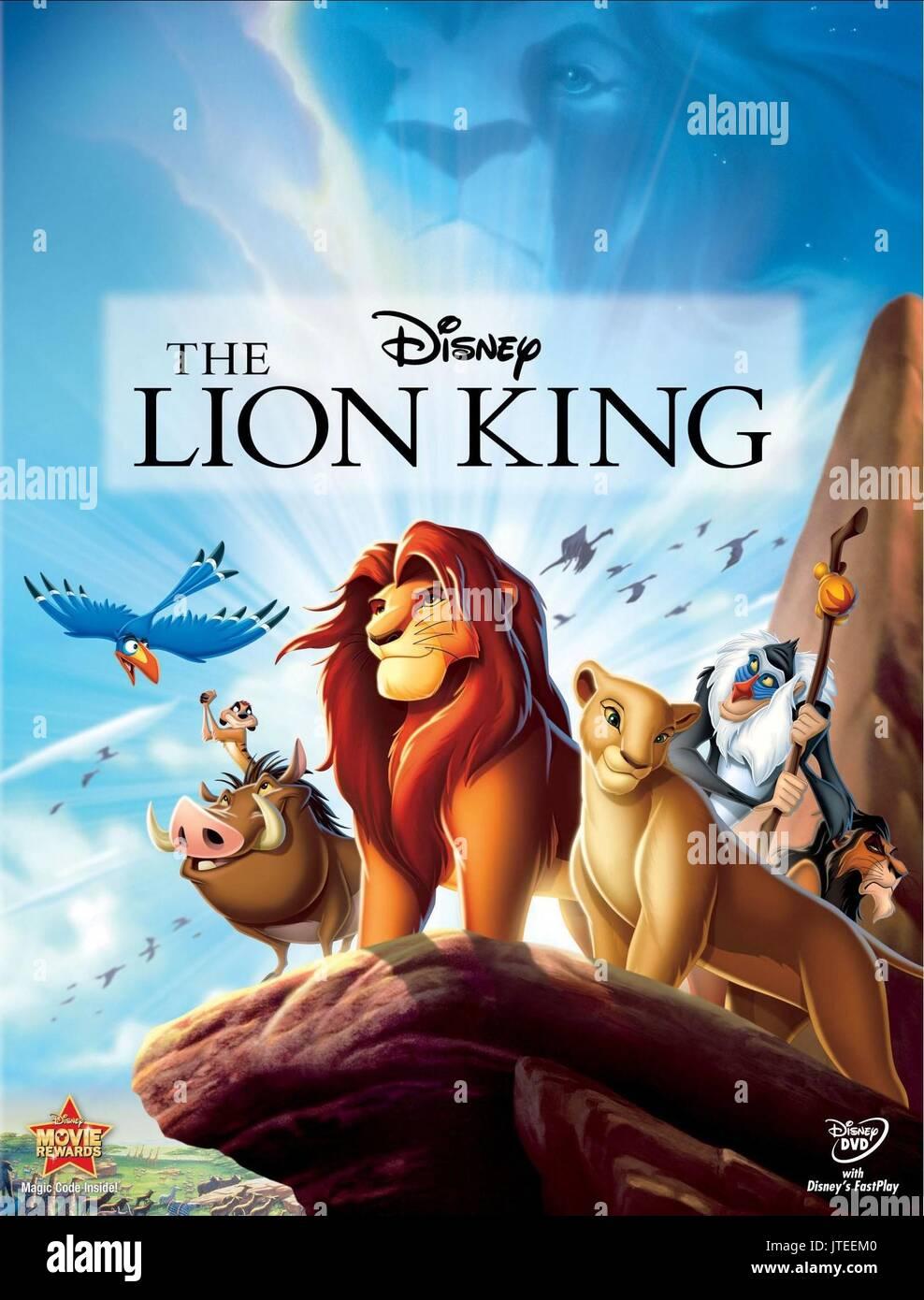 Zazu Simba Nala Rafiki Timon Pumbaa Scar Poster The Lion King Stock Photo Alamy