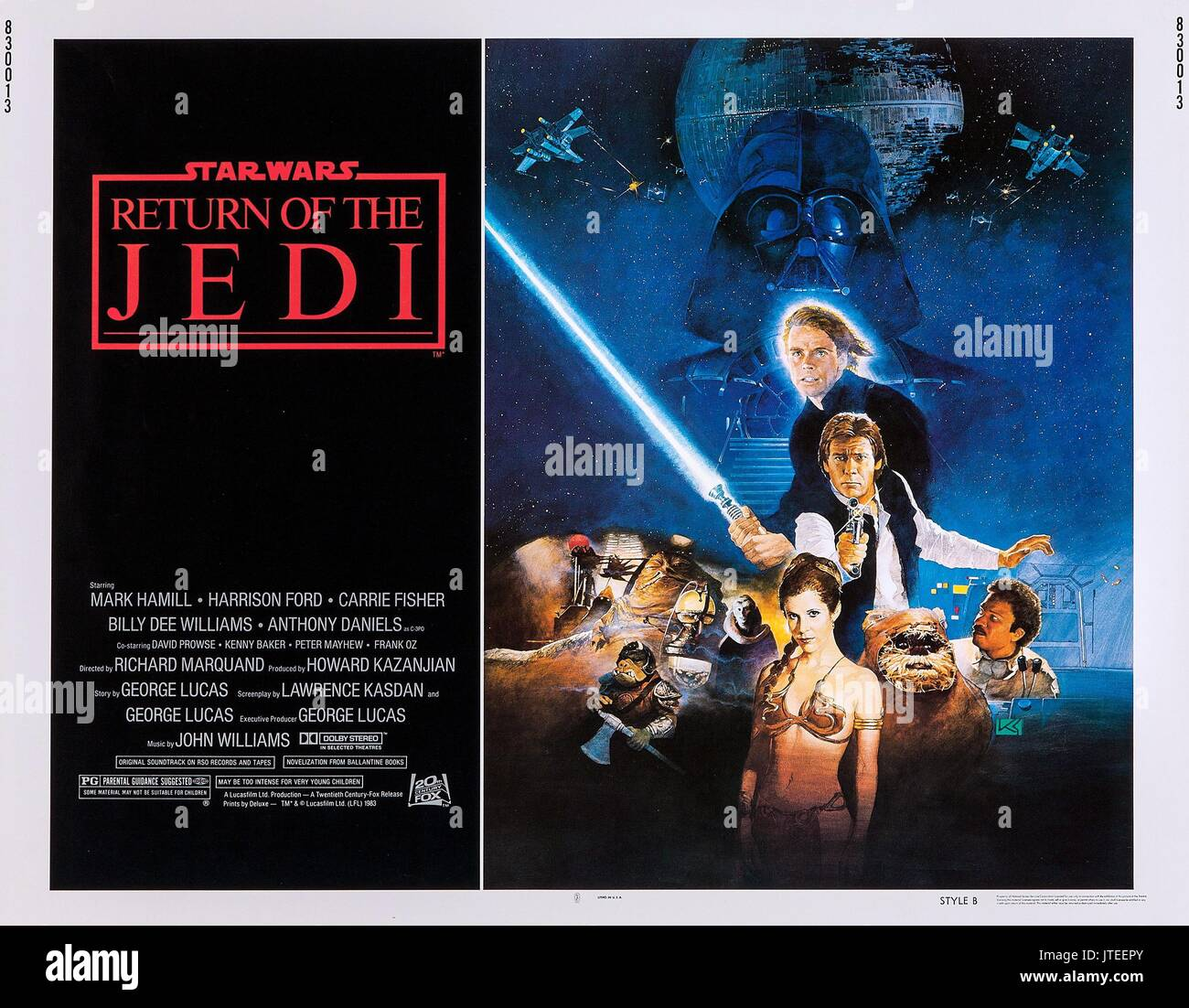 Mark Hamill Harrison Ford Carrie Fisher Billy Dee Williams Poster Stock Photo Alamy