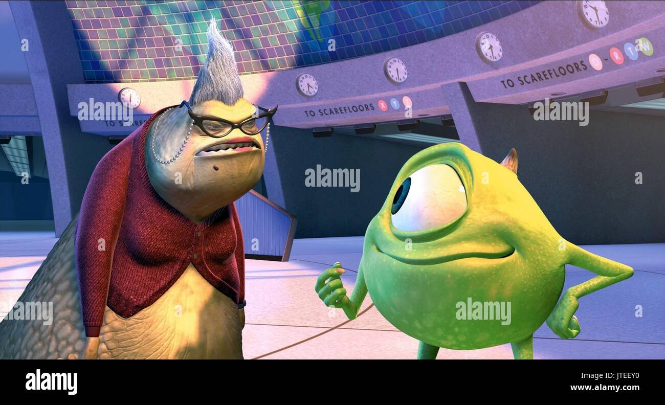 Roz Mike Monsters Inc 2001 Stock Photo Alamy