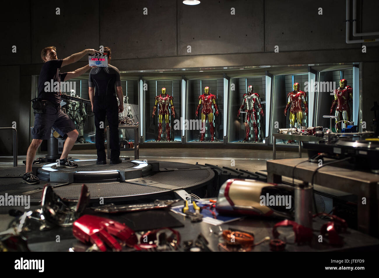 BEHIND THE SCENES IRON MAN 3 (2013) - Stock Image