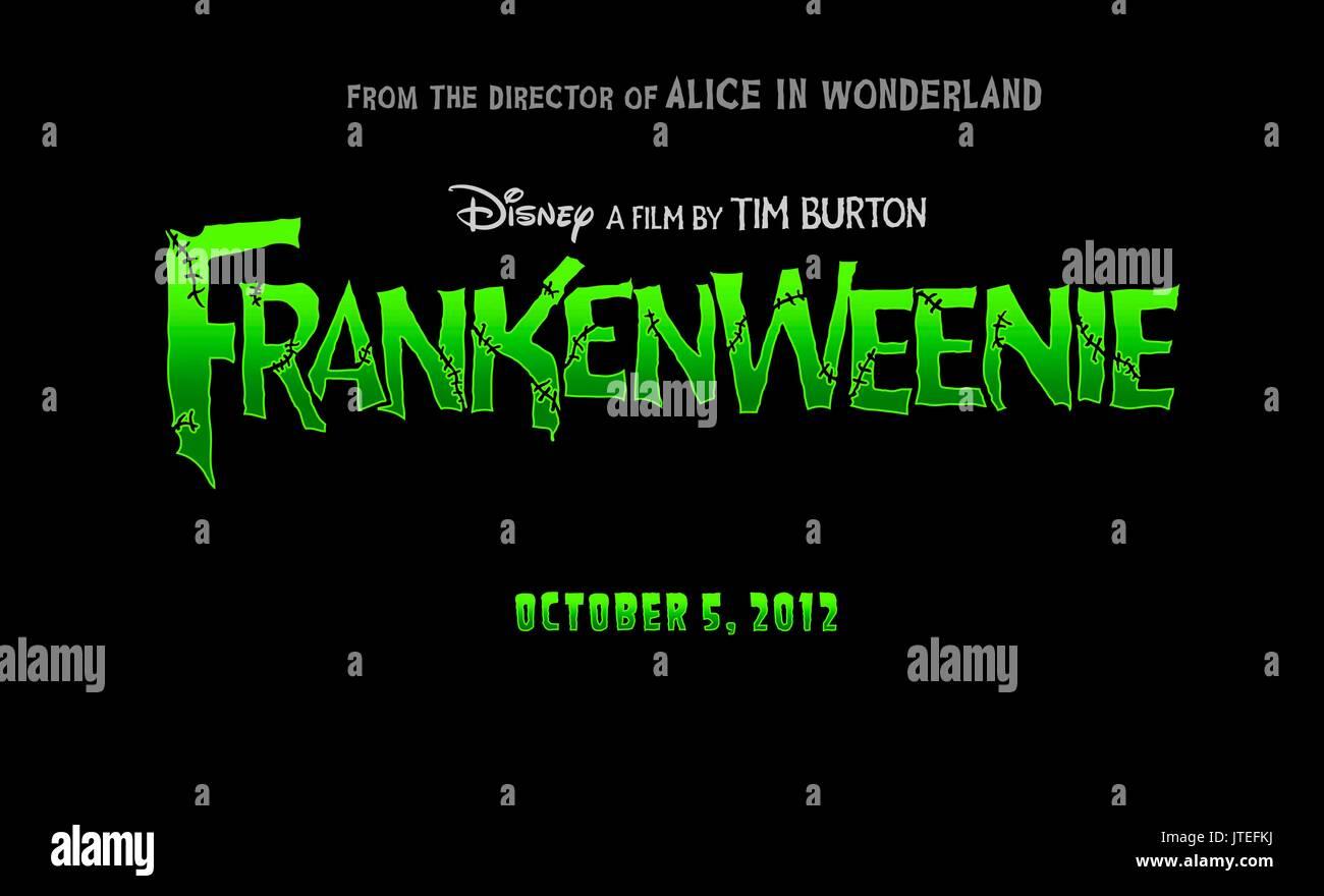 Movie Poster Frankenweenie 2012 Stock Photo Alamy