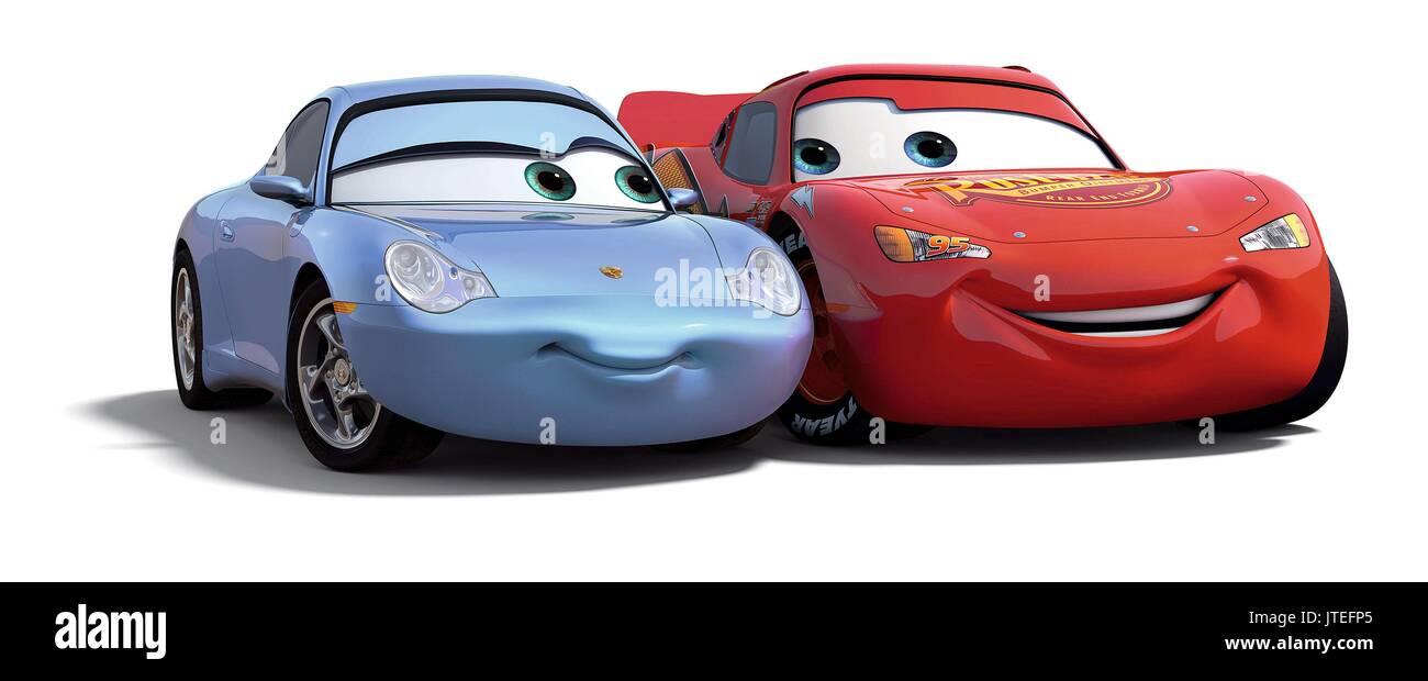 SALLY CARRERA & LIGHTNING MCQUEEN CARS (2006 Stock Photo: 152754397