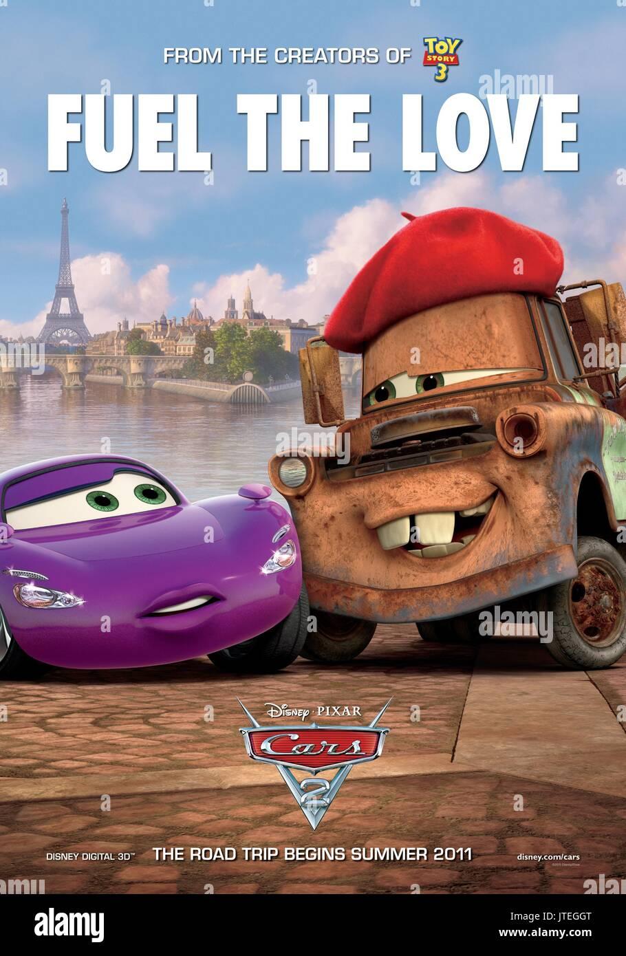 Movie Poster Cars 2 2011 Stock Photo Alamy