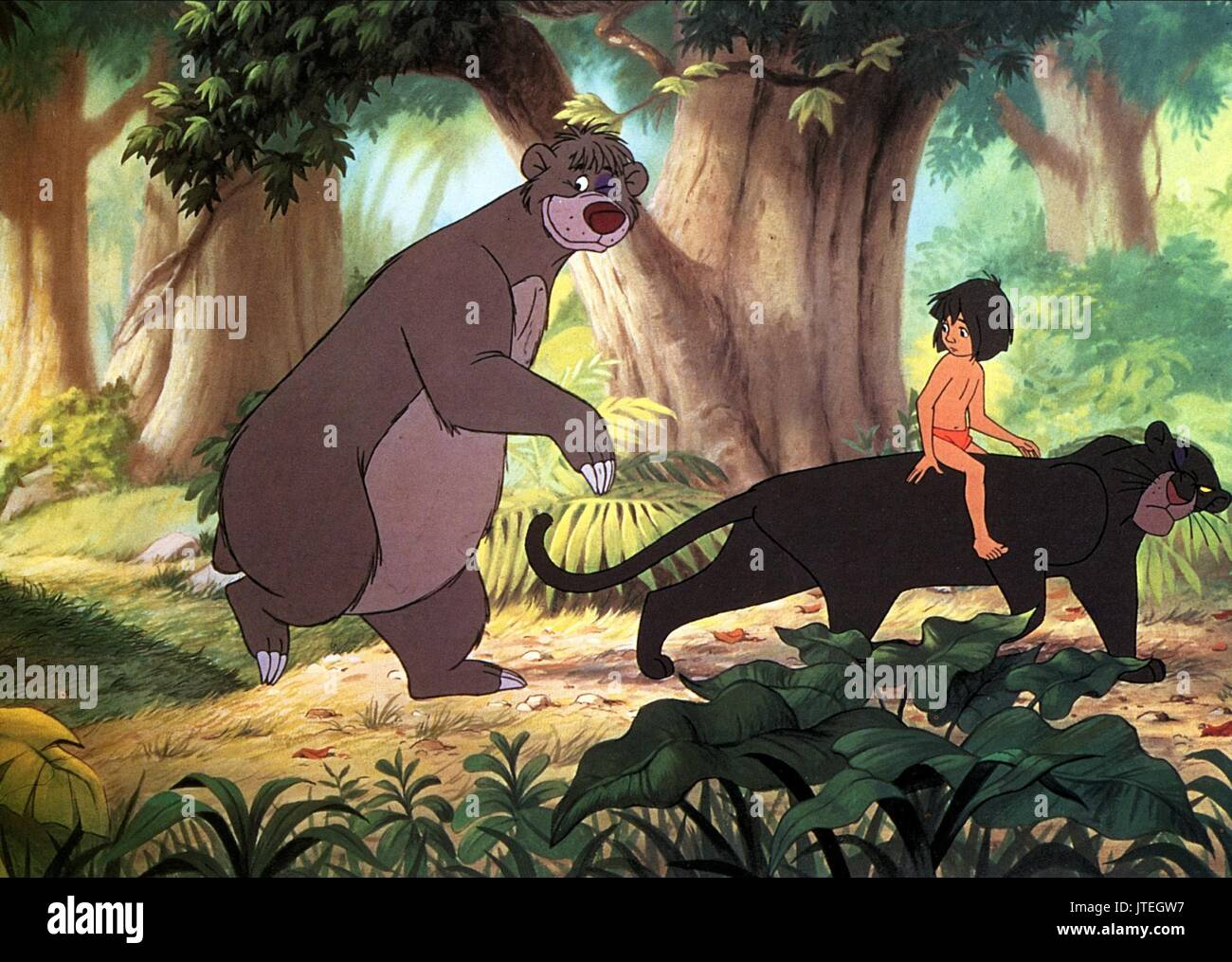 Baloo Mowgli Bagheera The Jungle Book 1967 Stock Photo