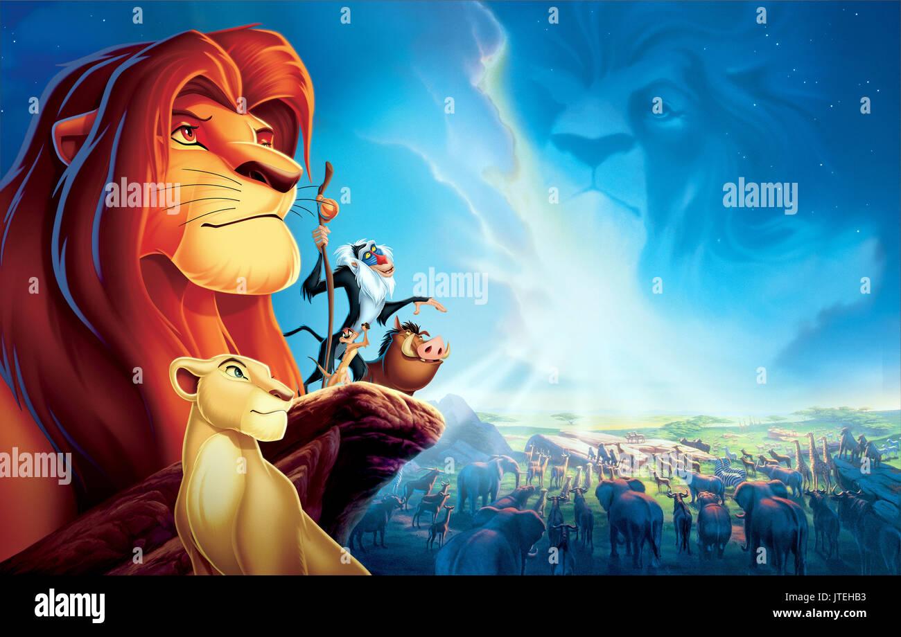 Nala Simba Rafiki Timon Pumbaa Poster The Lion King 1994 Stock Photo Alamy