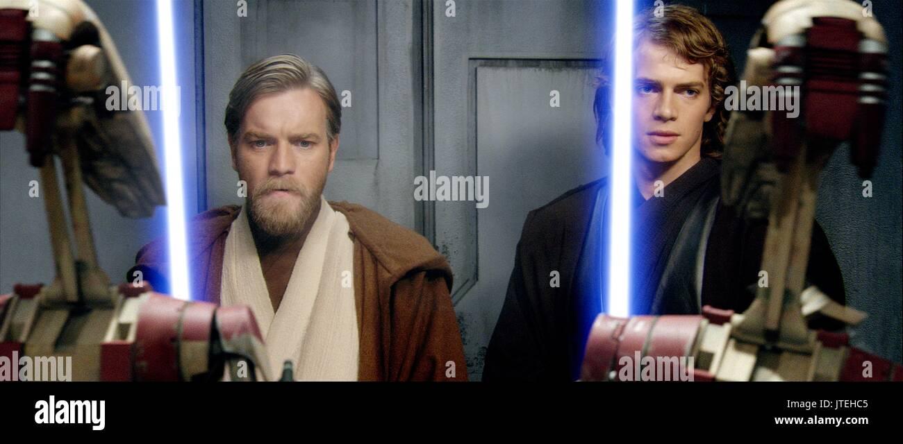 Ewan Mcgregor Hayden Christensen Star Wars Episode Iii Revenge Stock Photo Alamy