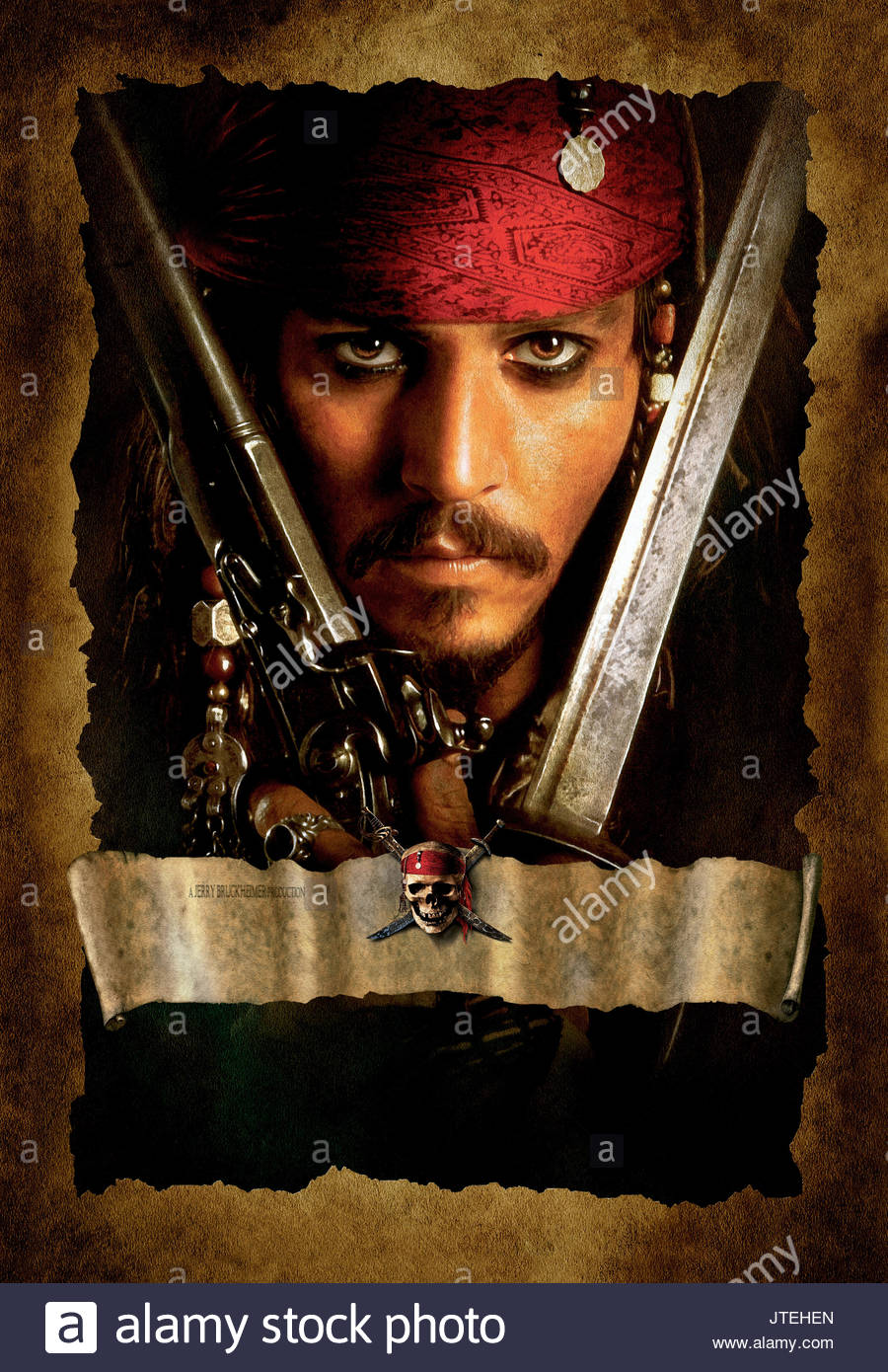 Johnny Depp Pirates Of The Caribbean The Curse Of The Black Pearl Stock Photo Alamy