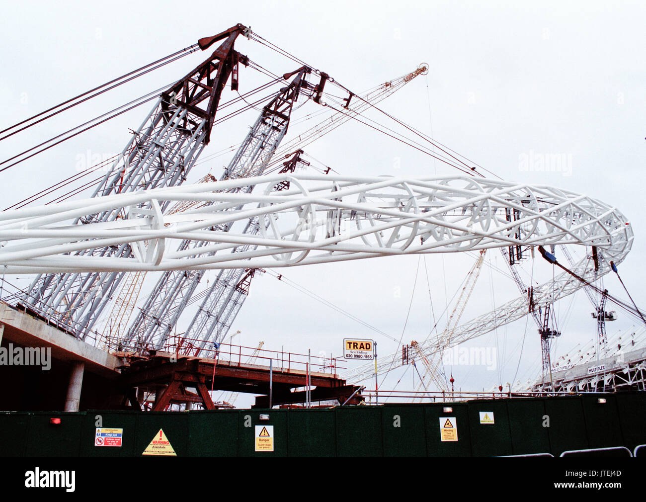Construction of the new Wembley Stadium - Stock Image