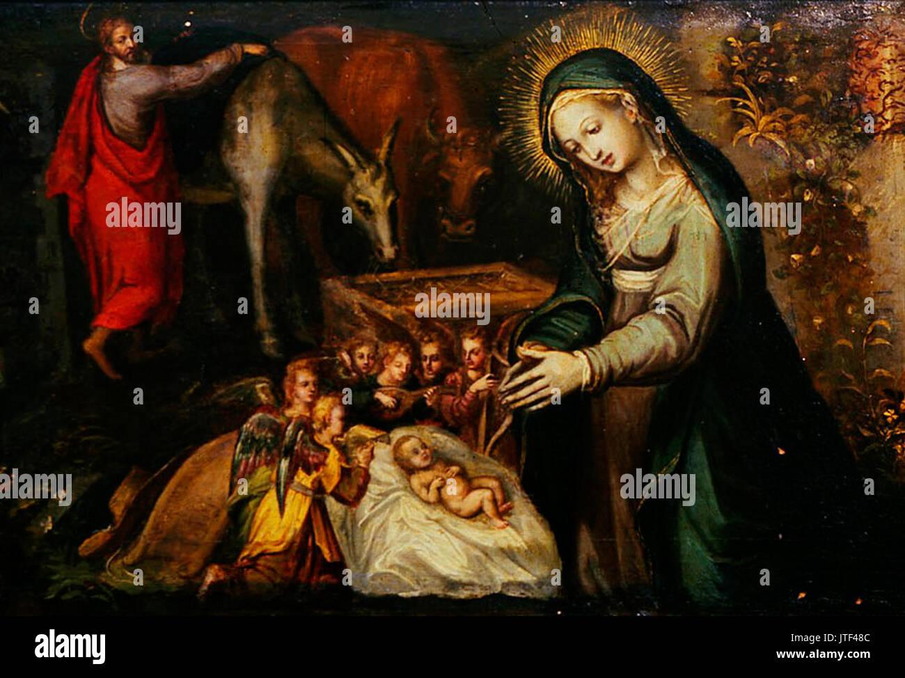 Vasco Pereira Lusitano   The Nativity (detail) - Stock Image