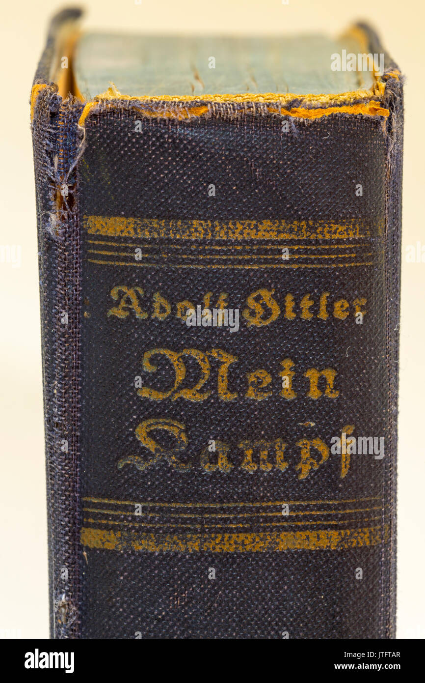 1943 german edition of Adol Hitler's autobiographical book Mein Kampf. - Stock Image