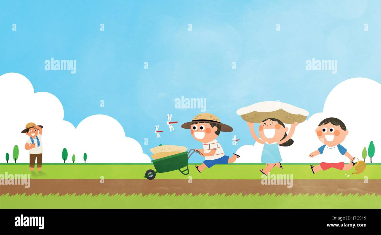 Summer Vacation - Stock Vector