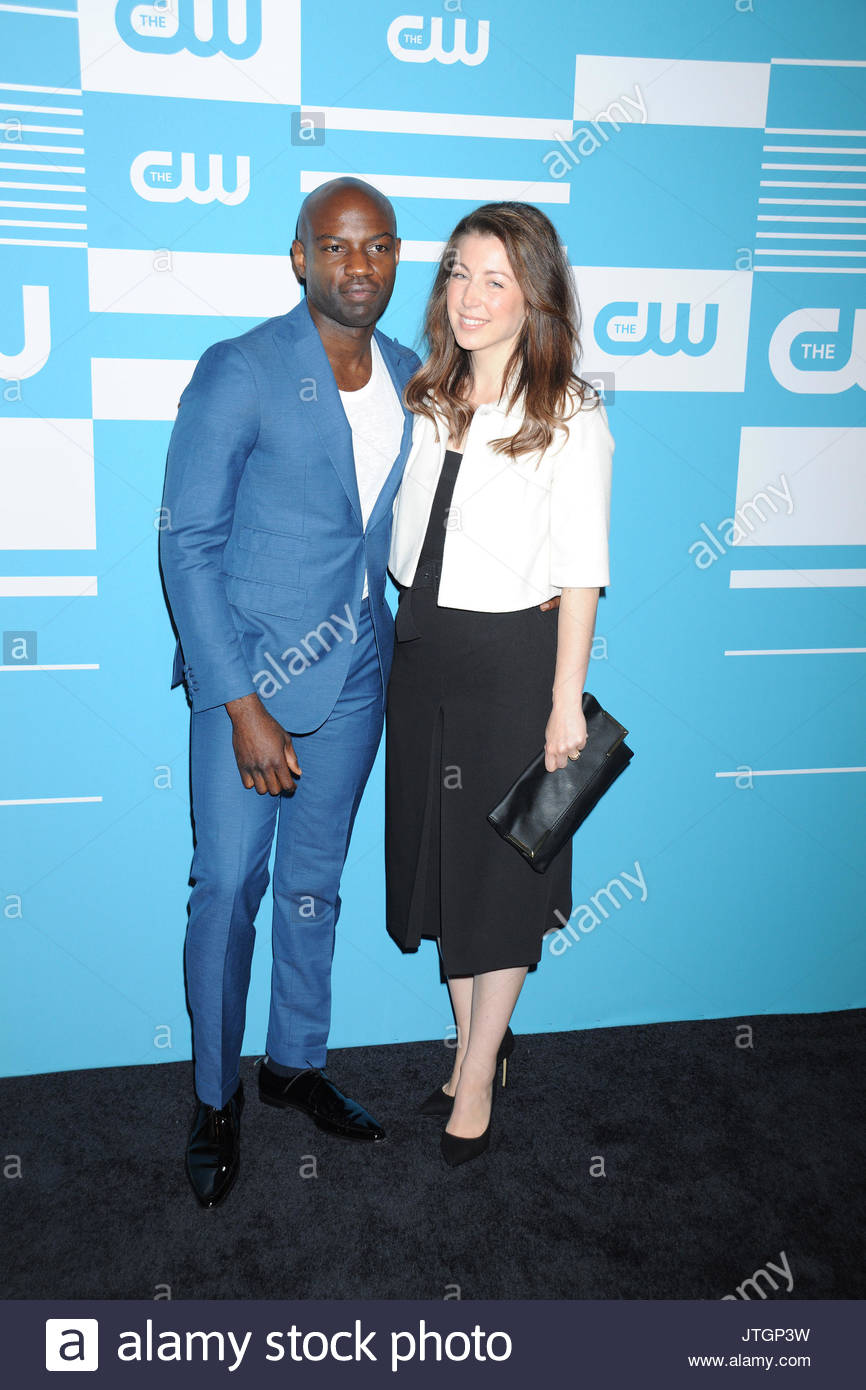 David Gyasi And Wife Actors And Casts Arrive On The Black Carpet For The Cw Networks New York 2015 Upfront Presentation