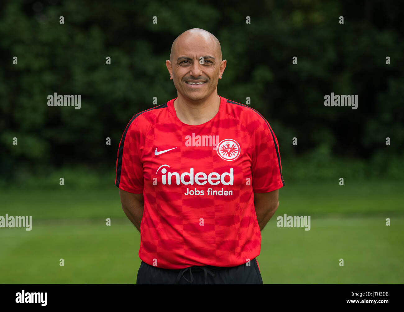 German Bundesliga, official photocall Eintracht Frankfurt for season 2017/18 in Frankfurt, Germany: kitman Franco Lionti. | usage worldwide - Stock Image