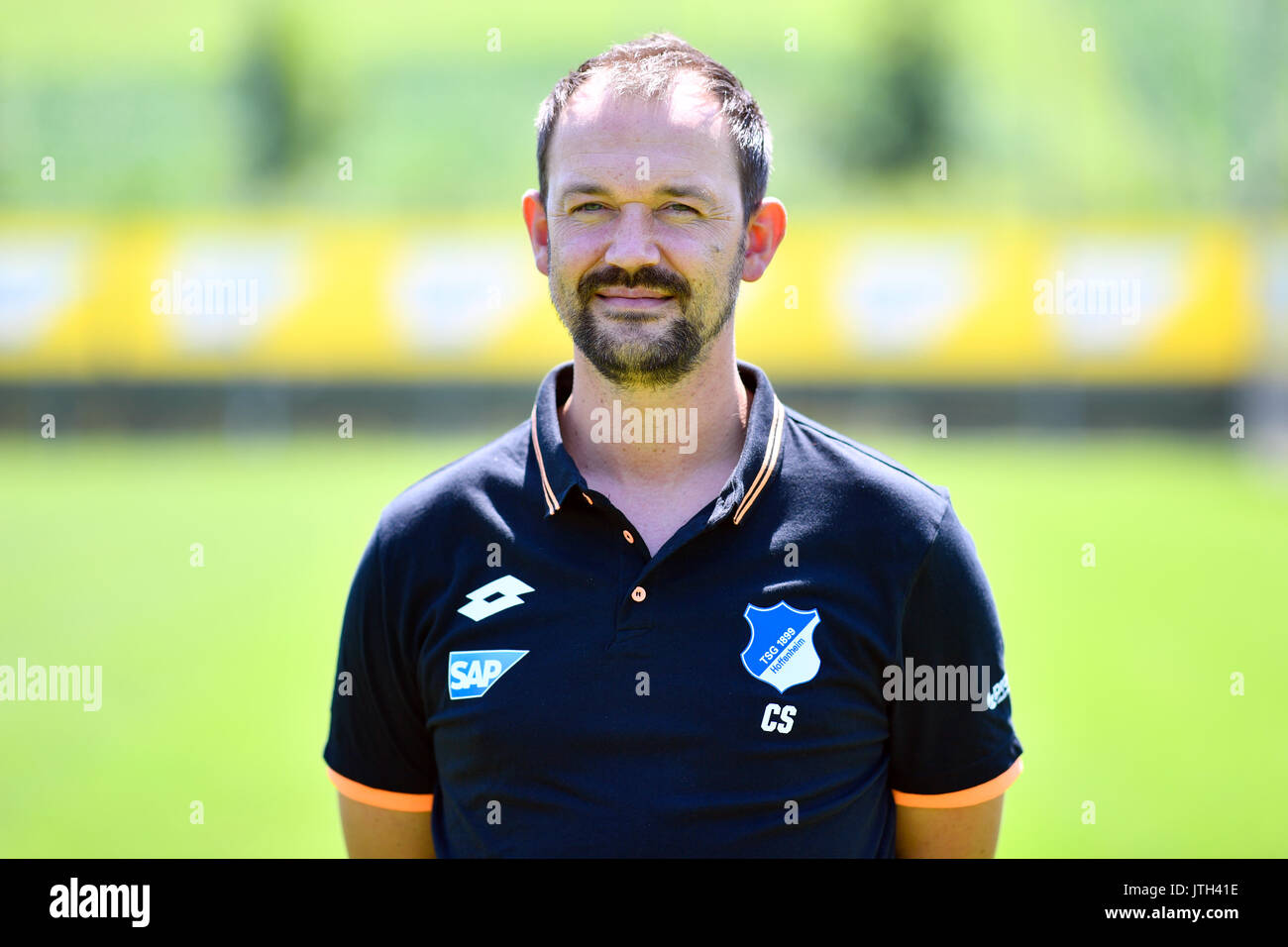 German Bundesliga, Photocall TSG 1899 Hoffenheim on 13 July 2017 in Zuzenhausen, Germany: Foto: kitman Christian Seyfert. Uwe Anspach/dpa | usage worldwide - Stock Image