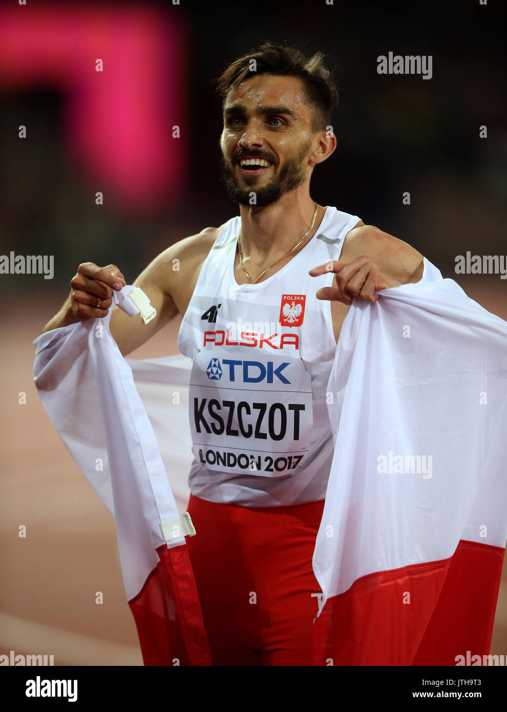 Adam Kszczot 800 Metrs Final World Athletics Championships 2017 London Stam, London, England 08 August 2017 Credit: Allstar Picture Library/Alamy Live News Credit: Allstar Picture Library/Alamy Live News - Stock Image
